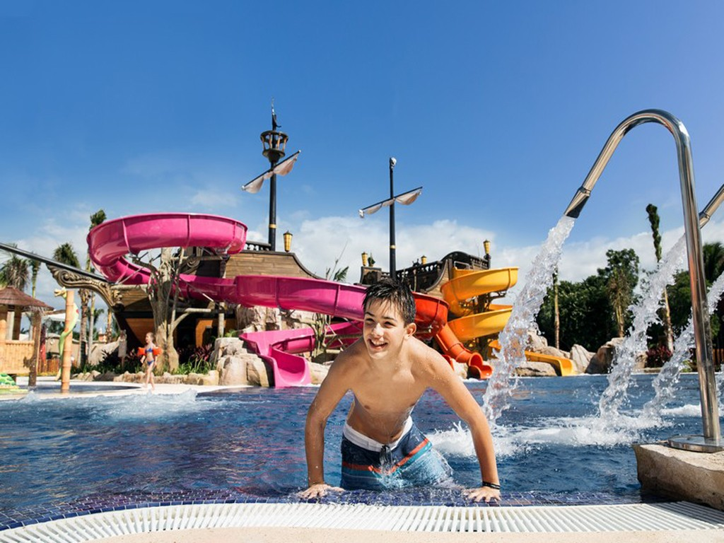 Fun for the whole family at the Pirates Island Water Park at Barcelo Maya Beach Resort.