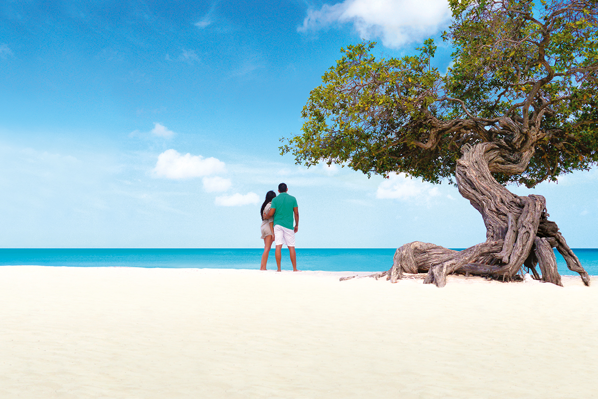 romantic destination caribbean seaside