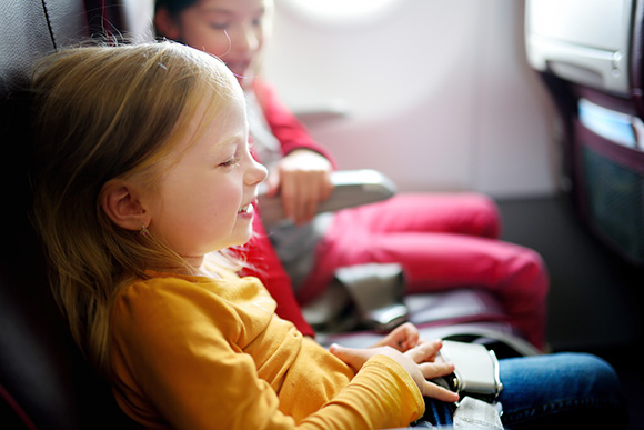 family airplane ride