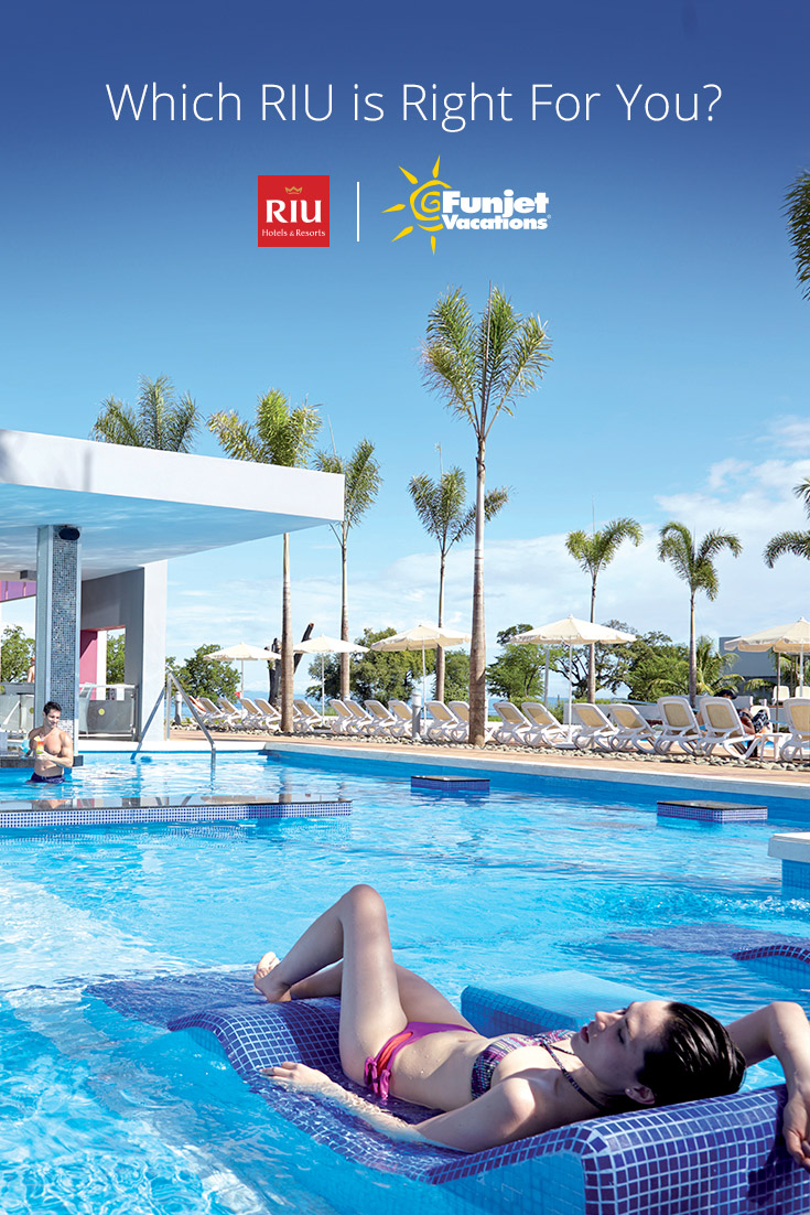 Check out just a few of the RIU Hotels & Resorts waiting for you throughout Mexico, the Caribbean and Central America. There's a RIU waiting for you.