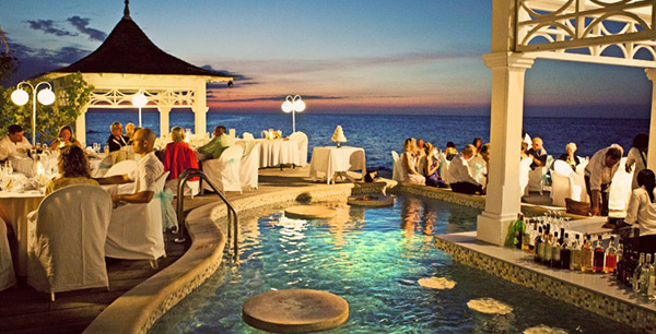 outdoor dining at Couples Jamaica