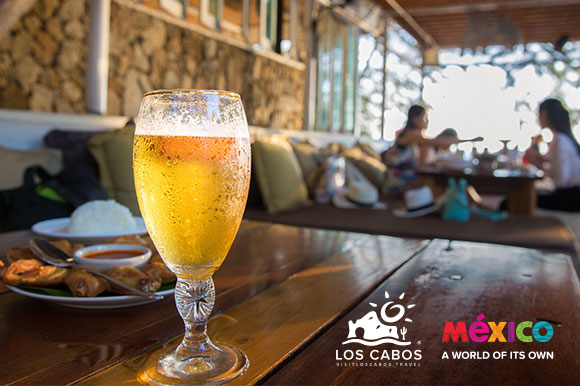 Glass of beer in Los Cabos, Mexico